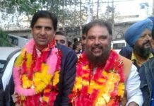 Newly Chairman Asif Jatt and BB Vaid (R) vice chairman of Rajouri Municipal Council.