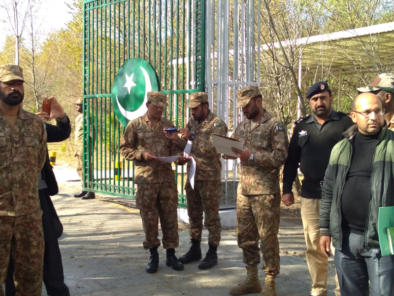 India-Pak troops completing formalities at LoC in Poonch on Friday. -Excelsior/ Romesh Bali