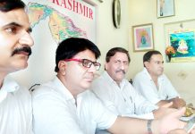 PK leaders during a meeting at Jammu on Sunday.