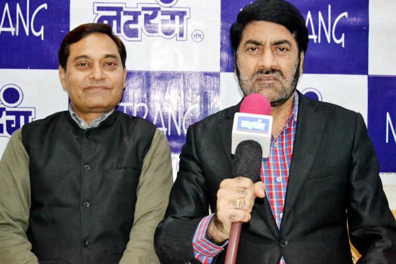 Natrang Director, Balwant Thakur, addressing a press conference at Jammu.
