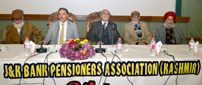 J&K Bank Chairman Parvez Ahmed during a function organised by JKBPA.