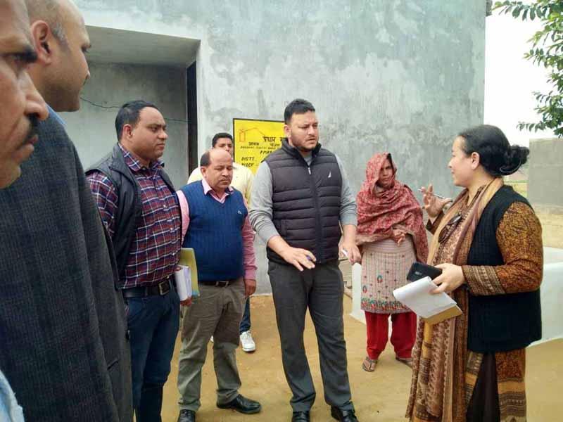 DG RDD Rehana Batul during visit to Ramgarh.