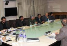 Chief Secretary BVR Subrahmanyam chairing a meeting on Saturday.