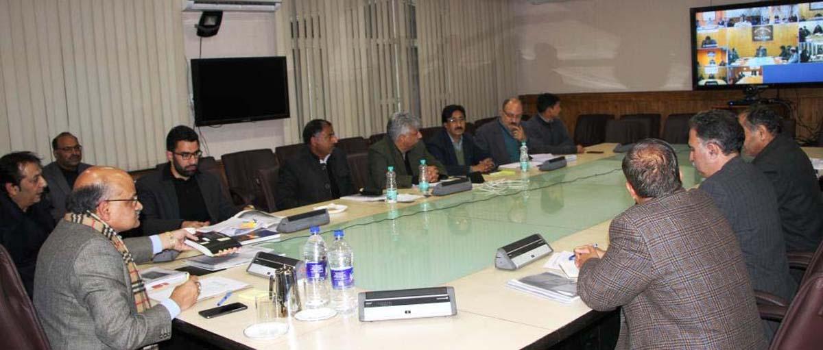 Chief Secretary BVR Subrahmanyam chairing a meeting on Saturday.