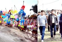 DC Jammu Ramesh Kumar reviewing Jhiri Mela arrangements on Sunday.
