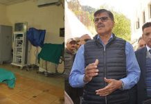 Advisor Vijay Kumar during his visit to Ramban District Hospital.
