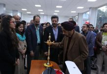 Dignitaries during inauguration of new dealership of Hillview Honda at BC Road Ambphalla on Wednesday.