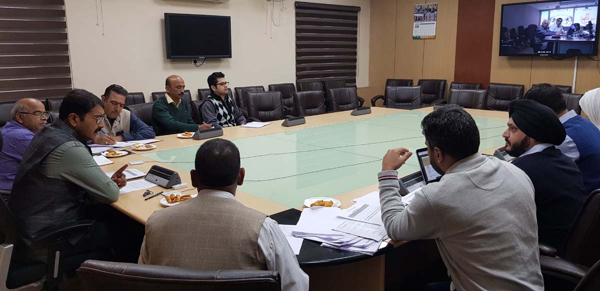 Secretary IT Saugat Biswas chairing a meeting on Saturday.
