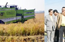 Principal Secretary Finance Navin K Choudhary during tour of Seed Multiplication Farm in Chinore on Thursday.