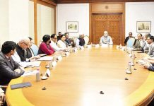 Prime Minister, Narendra Modi interacting with the members of his Science, Technology and Innovation Advisory Council (PM-STIAC), in New Delhi on Tuesday. (UNI)