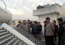 Chief Executive Councillor, LAHDC, Feroz Khan at visit to Kargil Boys Hostel in Jammu on Sunday.