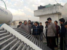 Chief Executive Councillor, LAHDC, Feroz Khan at visit to Kargil Boys Hostel in Jammu on Sunday.