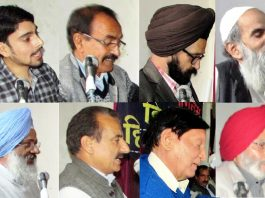 Poets and writers in Multilingual event of Hindi Sahitya Mandal on Sunday.