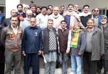 BJP leaders during a meeting in Rajouri-Poonch area.