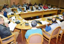 SMVDU VC chairing a meeting of DQA on Friday.