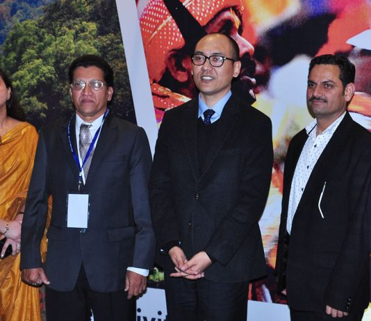 Rigzin Samphel, Secretary Tourism, along with other officers and dignitaries on the inaugural of ITM Jammu.