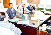 Commissioner Secretary, Forest, Ecology & Environment Manoj Kumar Dwivedi chairing a meeting on Tuesday.