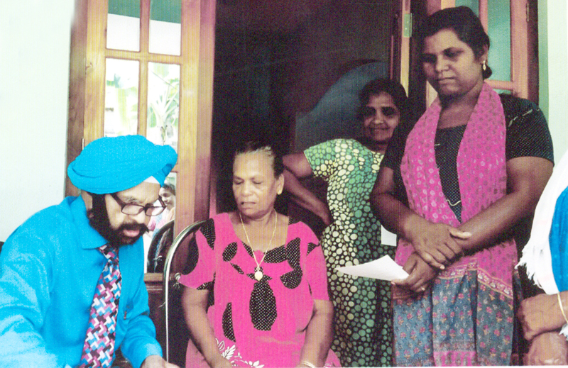 Dr Kirpal Singh during a medical camp at Kerala.