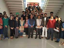Resources persons with students and faculty members of ICccR & HRM during a session at JU on Friday.