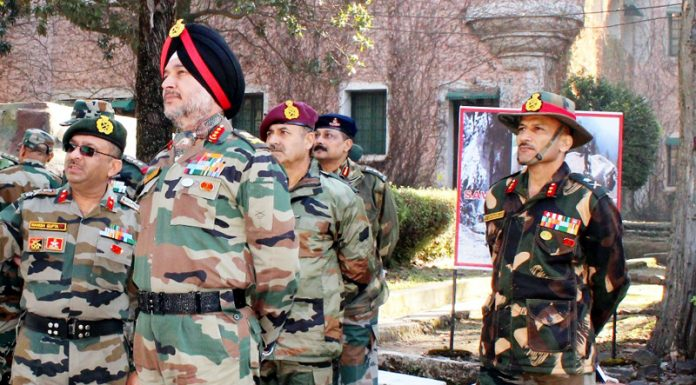 Northern Command chief Lt Gen Ranbir Singh during his visit to LoC on Thursday.
