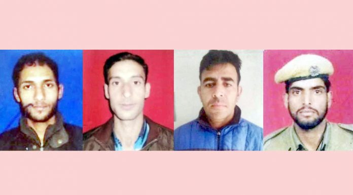 Police jawans killed in a militant attack in Shopian on Tuesday.