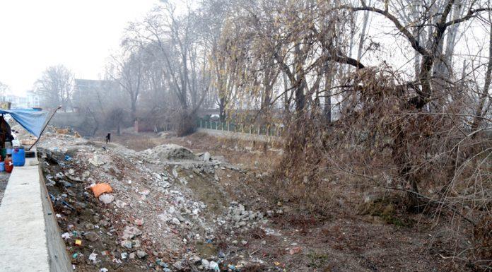 Land for construction of Community Centre at Rajbagh, Srinagar. -Excelsior/Shakeel