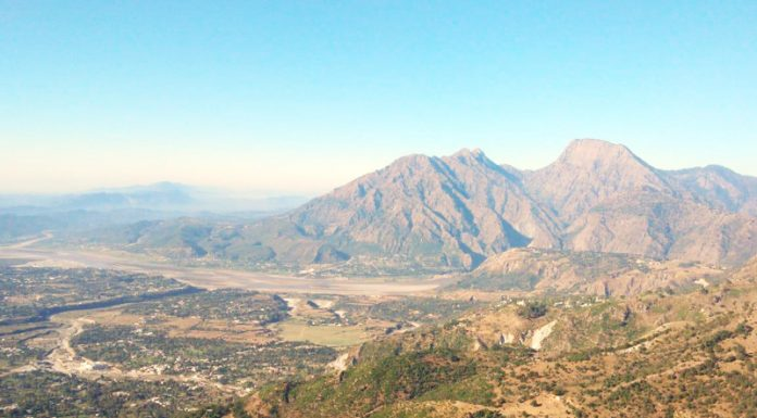 Beauty of Reasi town captured from village Marhi.—Excelsior/Karandeep