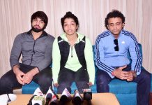 Rio Oympics Bronze Medals Sakshi Malik inteacting with media persons at Jammu on Sunday. -Excelsior/ Rakesh