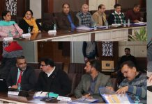 Police officers and officials during a workshop at Jammu on Tuesday.