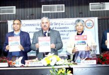 CUJ VC and others releasing conference souvenier during inauguration of IPEA Annual Conference at JU on Friday.