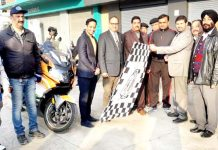 DC Jammu flagging off bike rally at Jammu.