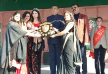 Dignitaries during Annual Day function of Kids Planet Public School Akhnoor.