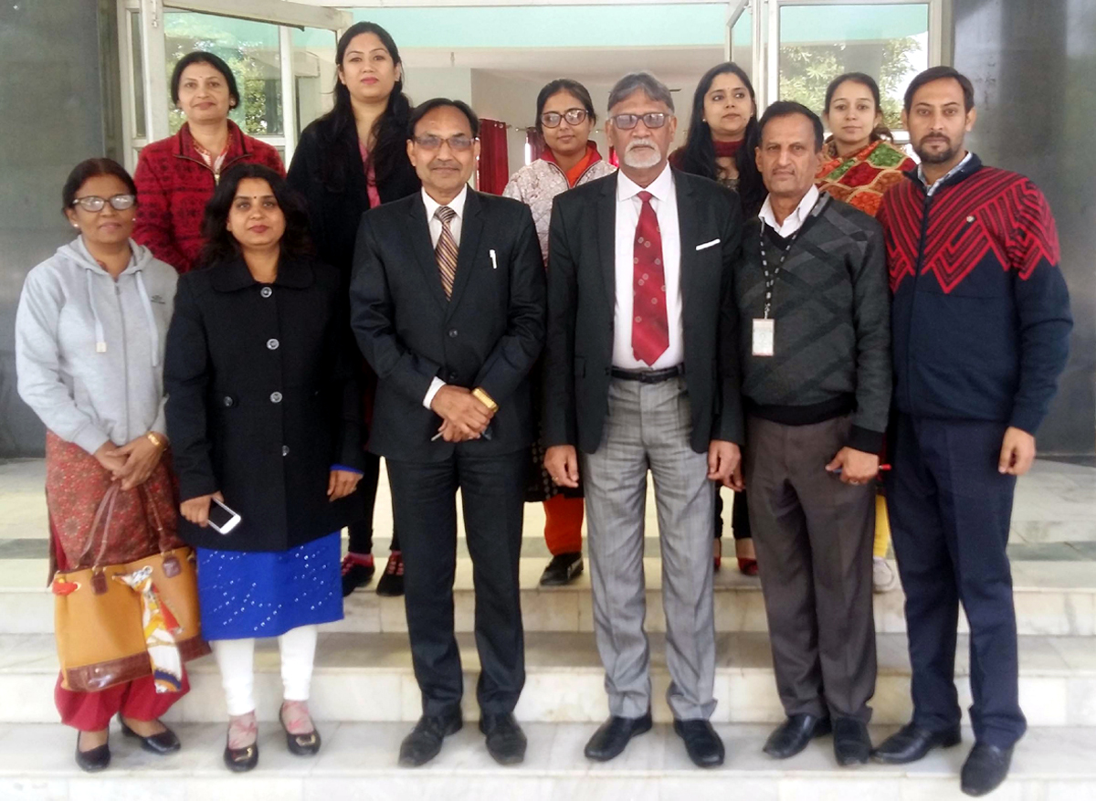 IMS Faculty members along with Prof. B.B Goyal of Punjab University posing for a group photograph at Jammu on Wednesday.