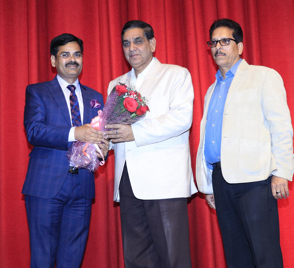 Bouquet presentation during Annual Day celebration by Sanfort Preschool chain in Jammu.