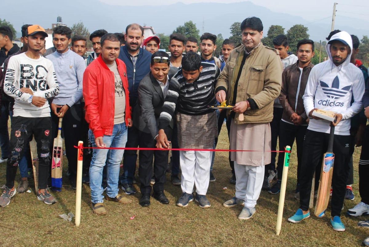 Secretary CCI Gourav Gupta inaugurating Ramkot Cricket Tournament on Wednesday.
