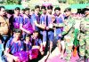 Winners of Kabaddi Tournament receiving Trophy from Army Officers at Kalakote in Rajouri.