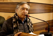 CPI(M) leader MY Tarigami addressing CITU convention. — Excelsior/Shakeel