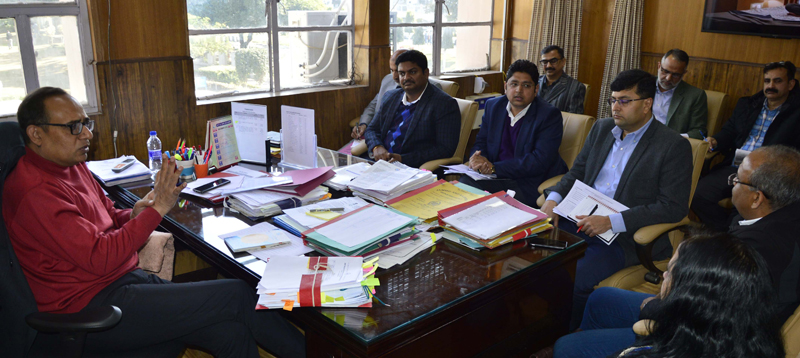 Principal Secretary, Planning, Rohit Kansal chairing a meeting in Jammu on Thursday.