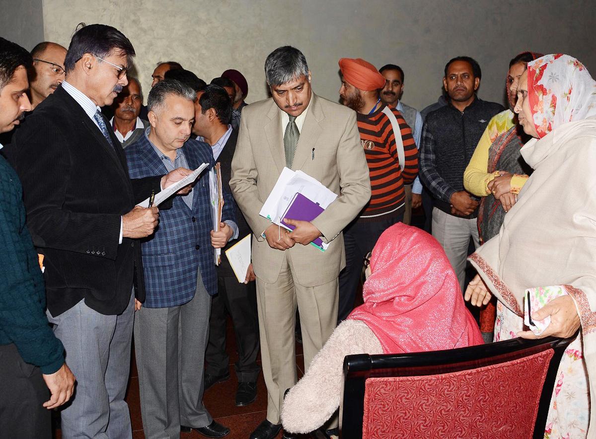 Advisor K Vijay Kumar interacting with a delegation on Thursday.