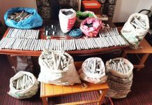 Ammunition and explosives recovered in Pulwama. -Excelsior/Younis Khaliq