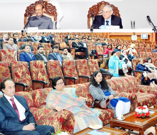 CJ Gita Mittal, Judges of different High Courts and others during valedictory function of North Zone Regional Conference on Sunday.