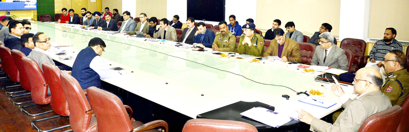 Chief Secretary chairing a meeting on Monday.