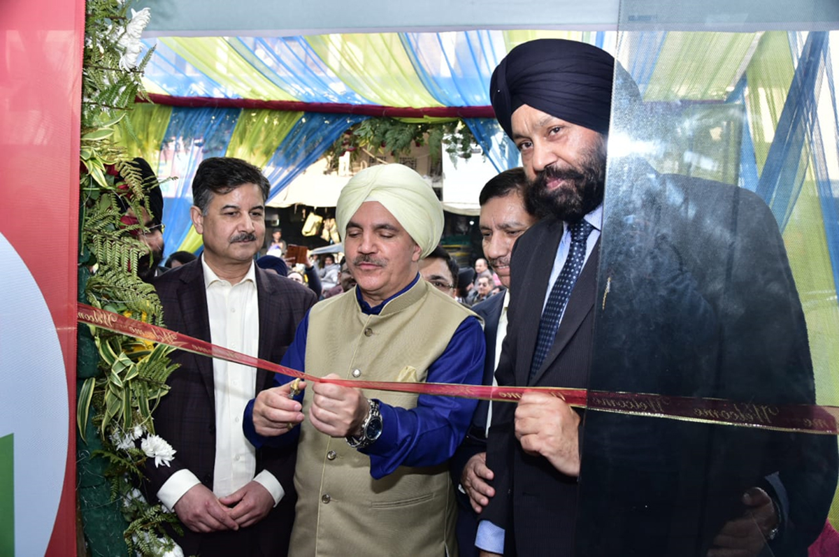 Chairman J&K Bank Parvez Ahmed inaugurating new business premises at Amritsar on Sunday.
