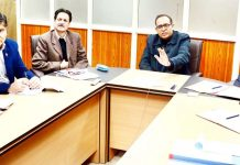 Principal Secretary, PD&M, Rohit Kansal chairing a meeting on Monday.