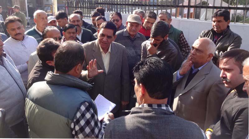 JMC Mayor meeting locals at Shiv Nagar on Wednesday.