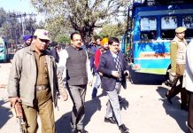 Mayor Chander Mohan Gupta, along with JMC Commissioner and VC JDA, touring areas of Maheshpura in Jammu.
