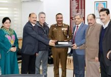 DGP Dilbag Singh being presented final selection list of Sub-Inspectors.