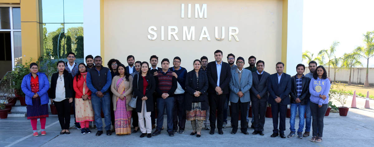 Prof Neelu Rohmetra, Director IIM Sirmaur alongwith participants of National Doctoral Colloquium on the campus.