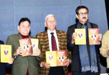 Punjabi writers and other literary persons at a Punjabi conference in Jammu on Monday.