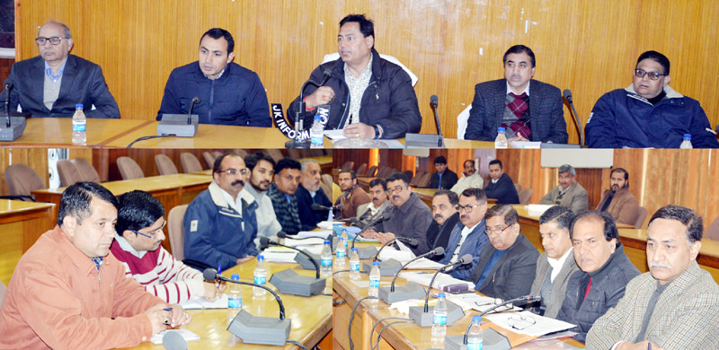 Deputy Commissioner Ramesh Kumar chairing a meeting in Jammu on Thursday.